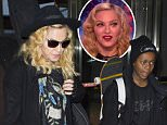 Madonna with son David Banda arrive at JFK airport in NYC.\n\nPictured: Madonna\nRef: SPL975970  140315  \nPicture by: Ron Asadorian / Splash News\n\nSplash News and Pictures\nLos Angeles: 310-821-2666\nNew York: 212-619-2666\nLondon: 870-934-2666\nphotodesk@splashnews.com\n