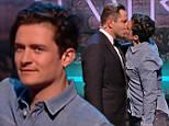 ****Ruckas Videograbs****  (01322) 861777\n*IMPORTANT* Please credit BBCfor this picture.\n13/03/15\nComic Relief - Face the Funny\nGrabs from the programme tonight, Orlando Bloom kisses David Walliams\nOffice  (UK)  : 01322 861777\nMobile (UK)  : 07742 164 106\n**IMPORTANT - PLEASE READ** The video grabs supplied by Ruckas Pictures always remain the copyright of the programme makers, we provide a service to purely capture and supply the images to the client, securing the copyright of the images will always remain the responsibility of the publisher at all times.\nStandard terms, conditions & minimum fees apply to our videograbs unless varied by agreement prior to publication.