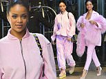 Rihanna out running errands in a pink sweat suit in NYC.\n\nPictured: Rihanna\nRef: SPL975143  130315  \nPicture by: Ron Asadorian / Splash News\n\nSplash News and Pictures\nLos Angeles: 310-821-2666\nNew York: 212-619-2666\nLondon: 870-934-2666\nphotodesk@splashnews.com\n