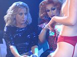 EXCLUSIVE  Mandatory Credit: Photo by Rob Cable/REX (4527844ag)  Katie Hopkins watches a contestant stripping on stage  Porn Idol Contest at G-A-Y, London, Britain - 12 Mar 2015  She would never be described as shy, which is just a well considering Katie Hopkins' latest escapade.  The professional motor-mouth put her talents to good use by acting as a judge on 'Porn Idol' at G-A-Y in London.  For the event, which saw contestants from the audience take to the stage for the chance to win GBP 100 by stripping, she was joined by fellow judges Baga Chipz and Mary Mac.  After taking a fancy to her nipple piercing, Katie ultimately crowned 20-year-old Kizzy from Aylesbury the winner.  Throughout the evening she also managed to offend every single contestant as well as host Jeremy Joseph with quips about killing his dog.  However, proving it was just for fun they kissed and made up at the end of the night.