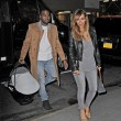 Kim Kardashian and Kanye West take baby North out for a dinner with Kris Jenner in Midtown, NYC