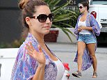 Pictured: Kelly Brook Mandatory Credit    Hemp Bros/Broadimage ***EXCLUSIVE*** Kelly Brook showing off her toned legs in a Daisy Duke Shorts in West Hollywood  3/13/15, West Hollywood, California, United States of America  Broadimage Newswire Los Angeles 1+  (310) 301-1027 New York      1+  (646) 827-9134 sales@broadimage.com http://www.broadimage.com