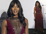 English model Naomi Campbell poses on the red carpet for the fundraising gala organized by amfAR (The Foundation for AIDS Research) in Hong Kong Saturday, March 14, 2015. (AP Photo/Kin Cheung)