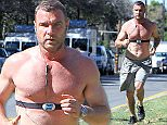 """March 13, 2015    """"Ray Donovan"""" star Liev Schreiber goes for a morning run with his shirt off in Brentwood, California. Now that spring is just around the corner, Liev must want to get a little tan before beach season starts!    Non-Exclusive  UK RIGHTS ONLY    Pictures by : FameFlynet UK    2015  Tel : +44 (0)20 3551 5049  Email : info@fameflynet.uk.com"""