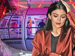13 Mar 2015 - LONDON - UK  KYLIE JENNER AT THE LONDON EYE IN RED SILK COAT BYLINE MUST READ : XPOSUREPHOTOS.COM  ***UK CLIENTS - PICTURES CONTAINING CHILDREN PLEASE PIXELATE FACE PRIOR TO PUBLICATION ***  **UK CLIENTS MUST CALL PRIOR TO TV OR ONLINE USAGE PLEASE TELEPHONE   44 208 344 2007 **