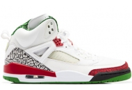Air Jordan Spizikes White Green Red Autographed Tag