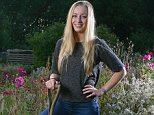 Picture by Steve Hill. 16.9.14. PICTURE FOR THE FINANCIAL MAIL ON SUNDAY PICTURE DESK. Helen Frear, 23 pictured on her allotment at Bunny, Nottinghamshire  this evening.