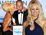 Mandatory Credit: Photo by Broadimage/REX (4375417w).. Pamela Anderson and Steve Simon.. 'Help Haiti Home' gala benefit, Los Angeles, America - 10 Jan 2015.. 4th Annual Sean Penn and Friends 'Help Haiti Home' Gala Benefiting J/P Haitian Relief Organization..