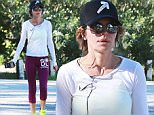 Picture Shows: Lisa Rinna  March 13, 2015\n \n Actress and reality star Lisa Rinna seems preoccupied with her cell phone while enjoying a hike at TreePeople Park in Beverly Hills, California. Lisa dressed casually in a baseball cap, a white top and purple Soul Cycle leggings.\n \n Exclusive All Rounder\n UK RIGHTS ONLY\n \n Pictures by : FameFlynet UK © 2015\n Tel : +44 (0)20 3551 5049\n Email : info@fameflynet.uk.com