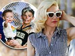 Los Angeles, CA - Hands-on mom Gwen Stefani spends a day at the park in Los Angeles with her rambunctious boys. Gwen, who welcomed her third child with husband Gavin Rossdale last year, recently wrapped up filming on the latest series of The Voice US. However, it's unlikely she'll be getting much time to herself as the star is set to reunite with her No Doubt bandmates and headline a selection of festivals later this year.\nAKM-GSI           March 14, 2015\nTo License These Photos, Please Contact :\n \n Steve Ginsburg\n (310) 505-8447\n (323) 423-9397\n steve@akmgsi.com\n sales@akmgsi.com\n \n or\n \n Maria Buda\n (917) 242-1505\n mbuda@akmgsi.com\n ginsburgspalyinc@gmail.com