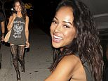 Karrueche Tran wearing black fishnet stockings was seen leaving BOA Restaurant in West Hollywood, CA  Pictured: Karrueche Tran Ref: SPL975703  140315   Picture by: SPW / Splash News  Splash News and Pictures Los Angeles: 310-821-2666 New York: 212-619-2666 London: 870-934-2666 photodesk@splashnews.com
