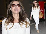 13.MAR.2015 - LOS ANGELES - USA ** EXCLUSIVE ALL ROUND PICTURES ** BRITISH ACTRESS AND STAR OF THE NEW E! TV SERIES 'THE ROYALS' LIZ HURLEY IN AN ALL WHITE OUTFIT MAKES HER WAY THROUGH LOS ANGELES INTERNATIONAL AIRPORT BYLINE MUST READ : XPOSUREPHOTOS.COM *AVAILABLE FOR UK SALE ONLY* ***UK CLIENTS - PICTURES CONTAINING CHILDREN PLEASE PIXELATE FACE PRIOR TO PUBLICATION *** *UK CLIENTS MUST CALL PRIOR TO TV OR ONLINE USAGE PLEASE TELEPHONE 0208 344 2007*