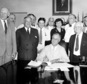 FLE - In this Aug. 14, 1935, file photo President Franklin Roosevelt signs the Social Security bill in Washington. Americans are getting older, but not this old: Social Security records show that 6.5 million people in the U.S. have reached the ripe old age of 112. In reality, only few could possibly be alive. As of last fall, there were only 42 people known to be that old in the entire world. But Social Security does not have death records for millions of people with birth dates stretching back as far as 1869, according to a report by the agency¿s inspector general. The first old-age monthly benefit check was paid in 1940, after President Franklin D. Roosevelt had signed the Social Security Act in 1935.  (AP Photo, File)