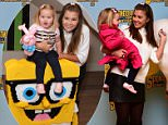 Imogen Thomas attends the Mother's Day screening of SpongeBob Movie: Sponge Out of Water 3D with Daughter Ariana at the Ham Yard Hotel\nPhoto by Dave Benett