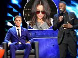 LOS ANGELES, CA - MARCH 14:  Roast master Kevin Hart (R) roasts honoree Justin Bieber (L) onstage at The Comedy Central Roast of Justin Bieber at Sony Pictures Studios on March 14, 2015 in Los Angeles, California. The Comedy Central Roast of Justin Bieber will air on March 30, 2015 at 10:00 p.m. ET/PT.  (Photo by Jeff Kravitz/FilmMagic)