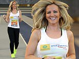 Michelle Mone was at the Emirates Arena in Glasgow to promote the Great Womens 10k Glasgow on the 17th of May. March 15 2015
