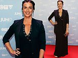 Alanis Morissette poses on the red carpet during the 2015 Juno Awards in Hamilton, Ont., on Sunday, March 15, 2015. (AP Photo/The Canadian Press, Peter Power)
