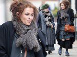 Helena Bonham Carter pictured out with her mother Elena Propper de CallejÛn and Ruby Wax in Westbourne Grove, Notting Hill this afternoon\n