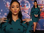 """NEW YORK, NY - MARCH 15:  (Exclusive Coverage) Rihanna promotes her new animated feature """"Home"""" at Mandarin Oriental on March 15, 2015 in New York City.  (Photo by Neilson Barnard/Getty Images)"""
