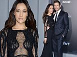 """Maggie Q, left, and Dylan McDermott arrive at the premiere of """"The Divergent Series: Insurgent"""" at the Ziegfeld Theatre on Monday, March 16, 2015, in New York. (Photo by Evan Agostini/Invision/AP)"""