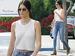 Kendall Jenner shopping and lunch with a friend in West Hollywood at the trendy Fred Segal on Melrose Av.  Pictured: Kendall Jenner. Ref: SPL976956  160315   Picture by: JLM / Splash News  Splash News and Pictures Los Angeles: 310-821-2666 New York: 212-619-2666 London: 870-934-2666 photodesk@splashnews.com
