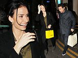 Man City's Frank Lampard and his fiance Christine Bleakley have an early dinner at San Carlo Restaurant in Manchester city centre on Monday evening. Frank who will fly to Barcelona on Tuesday on Tuesday morning with the Man City squad left the restaurant at 7.10pm and other diners leaving the restaurant said that the couple looked loved up holding hands at the table...... 16.3.15.