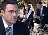 """UK CLIENTS MUST CREDIT: AKM-GSI ONLY\nEXCLUSIVE: Ben Affleck and co-star, Anna Kendrick, get back to work on their latest film """"The Accountant"""". The duo filmed a scene outside having lunch that they pre-made from home, including a good old fashion soup mug for Ben.  Ben and Anna had a few laughs in-between scenes to lighten up the mood as it appeared to be a serious scene.\n\nPictured: Ben Affleck and Anna Kendrick\nRef: SPL977494  160315   EXCLUSIVE\nPicture by: AKM-GSI / Splash News\n\n"""