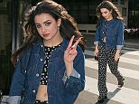 PARIS, FRANCE - MARCH 17:  Singer Charli XCX is seen leaving the 'Di Vino' italian restaurant on March 17, 2015 in Paris, France.  (Photo by Marc Piasecki/Getty Images)