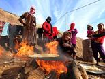 Thousands of members of the Yazidi religious minority were forced to flee a 2014 offensive by Islamic State militants in northern Iraq ©Safin Hamed (AFP)