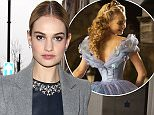 Mandatory Credit: Photo by Beretta/Sims/REX (4556174q)  Lily James  Celebrities at BBC Radio 1 Studios, London, Britain - 19 Mar 2015