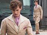 ***NO WEB USAGE*** Eddie Redmayne (Oscar winner 2015) on the movie set of 'The Danish Girl', in Brussels, Belgium. Eddie Redmayne Playing Transgender 'The Danish Girl', tells the true story of artist Einar Wegener who was one of the first people ever to have gender reassignment surgery. 17 March 2015. \n19 March 2015.\nPlease byline: Vantagenews.co.uk