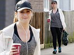 18.MARCH.2015 - LONDON - UK\n*** EXCLUSIVE ALL ROUND PICTURES TO ALL UK NEWSPAPERS ***\nEASTENDERS ACTRESS NATALIE CASSIDY PICTURED LOOKING SPORTY IN LEGGINGS AND TRAINERS AS SHE'S SPOTTED GRABBING A COFFEE DURING A BREAK FROM FILMING IN ELSTREE!\nBYLINE MUST READ : XPOSUREPHOTOS.COM\n***UK CLIENTS - PICTURES CONTAINING CHILDREN PLEASE PIXELATE FACE PRIOR TO PUBLICATION ***\n**UK CLIENTS MUST CALL PRIOR TO TV OR ONLINE USAGE PLEASE TELEPHONE 0208 344 2007**
