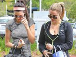 Kendall Jenner and Khloe Kardashian are still in their workout gear as they arrive at a doctor's office in Santa Monica. Kendall recently broke her silence on Bruce Jenner's transition, stating: 'I will always love my dad'.  March 18, 2015 X17online.com