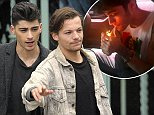 Mandatory Credit: Photo by London News Pictures/REX (3670582d)\nZayn Malik and Louis Tomlinson\nOne Direction on the Set of Their New Music Video, Clevedon Pier, Somerset, Britain - 24 Mar 2014\n\n