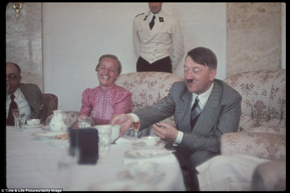 Jaeger captured this informal shot of Hitler with wife of Gauleiter Albert Forster at his Upper Bavaria estate in the late 30s