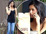 EXCLUSIVE TO INF.\nMarch 18, 2015: Jenna Dewan Tatum enjoys a burrito bowl to stay while chatting on the phone at Chipotle, Los Angeles, CA.\nMandatory Credit: Chiva/INFphoto.com Ref.: infusla-276