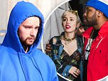 Exclusive... 51685419 First pictures of Patrick Schwarzenegger after he was caught cheating on girlfriend Miley Cyrus in Cabo, Mexico. Patrick was staring at a plastic fork and contemplating life while standing in a parking lot in Malibu, California on March 19, 2015. Patrick had his hoodie pulled up and as soon as he sees the camera he heads inside a store and waits for a friend to pick him up so he can hide his face. **NO WEB USE W/O PRIOR AGREEMENT** FameFlynet, Inc - Beverly Hills, CA, USA - +1 (818) 307-4813 RESTRICTIONS APPLY: NO WEBSITE USE