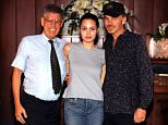 EXCLUSIVE. COLEMAN-RAYNER. Los Angeles CA, USA  MARCH 11th, 2015. Reverend Jim Hamilton poses next to Angelina Jolie and Billy Bob Thornton after marrying them at the Little Church of the West in Las Vegas on May 5, 2000. On the fifteenth anniversary of the notorious Hollywood union Rev Hamilton recalls the day they walked in during his shift and gives his opinions on the pair's short-lived marriage and the brand new marriages they have both recently embarked upon. In another photo Rev Hamilton is seen with the famous couple and the Best Man (a friend of Billy Bob called Harve Cook) and in a scrapbook of other snapshots the reverend poses with other celebrities he has married in a 36 year career in Las Vegas. CREDIT LINE MUST READ: Jeff Rayner/Coleman-Rayner Tel US (001) 310-474-4343 - office? Tel US (001) 323 545 7584 - cell www.coleman-rayner.com