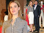 Mandatory Credit: Photo by Tom Nicholson/REX (4564774p)  Lily James and Richard Madden  'Cinderella' film exhibition photocall, Leicester Square Gardens, London, Britain - 20 Mar 2015