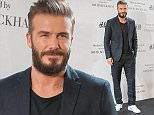 MADRID, SPAIN - MARCH 20:  David Beckham presents the Modern Essentials collection by H&M on March 20, 2015 in Madrid, Spain.  (Photo by Europa Press/Europa Press via Getty Images)