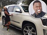 Big shout out to my baby daddy/friend @kevinhart4real for my brand new @cadillac Escalade. We have had our rough patches but God and prayer can change anything. My family for life. Thanks for always having my back. Now all I have to do is throw some Ds on this B*tch!! #blessed #happy #bestpiscesseasonever #cadillac #escalade