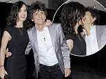 Celebrities arriving at The Roundhouse Gala Biennial fundraiser in aid of The Roundhouse Trust which helps 3000 11-25 year-olds from all backgrounds to realise their creative potential through opportunities in music, media and performing arts  Pictured: Ronnie Wood,Sally Wood Ref: SPL979454  190315   Picture by: JJ / RV / Splash News  Splash News and Pictures Los Angeles: 310-821-2666 New York: 212-619-2666 London: 870-934-2666 photodesk@splashnews.com