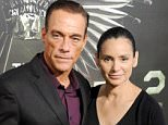 """HOLLYWOOD, CA - AUGUST 15:  Actors Jean-Claude Van Damme and wife Gladys Portugues arrive at Los Angeles premiere of """"The Expendables 2"""" at Grauman's Chinese Theatre on August 15, 2012 in Hollywood, California.  (Photo by Gregg DeGuire/WireImage)"""