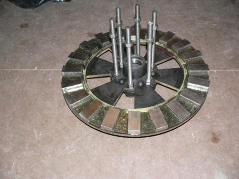 rotor mounted to hub