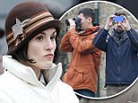 Picture Shows: Michelle Dockery  March 20, 2015\n \n The filming of the new series of Downton Abbey was held back for 45 minutes when a tour guide decided to run his regularly tour right through the middle of the set. \n \n A local tour guide of Lacock took 50 overseas students onto the set and onto the high street forcing cast and crew to stop filming while he gave his tour.\n \n Students were then seem using they selfie sticks to try and get pictures of they stars...\n \n Exclusive - All Round\n WORLDWIDE RIGHTS\n Pictures by : FameFlynet UK © 2015\n Tel : +44 (0)20 3551 5049\n Email : info@fameflynet.uk.com