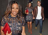 21 Mar 2015 - LONDON - UK MARVIN AND ROCHELLE HUMES ALONG WITH JONATHAN GILL ARE SEEN LEAVING MARVIN'S SUPRISE 30TH BIRTHDAY PARTY AT RADIO BAR AT THE ME HOTEL IN LONDON. ROCHELLE THREW A PRIVATE SUPRISE BIRTHDAY PARTY FOR HER HUSBAND'S 30TH. ROCHELLE CELEBRATES HER BIRTHDAY TODAY AS WELL.  BYLINE MUST READ : XPOSUREPHOTOS.COM ***UK CLIENTS - PICTURES CONTAINING CHILDREN PLEASE PIXELATE FACE PRIOR TO PUBLICATION *** **UK CLIENTS MUST CALL PRIOR TO TV OR ONLINE USAGE PLEASE TELEPHONE 44 208 344 2007**