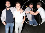 JOEY ESSEX AND TOWIES JESSICA WRIGHTS NEW BOYFRIEND DAN EDGAR SEEN AT CTZN BAR IN CHELMSFORD ESSEX. JOEY WAS TRYING TO THROW DAN IN THE RIVER WHEN LEAVING CTZN BAR LOOKING WORSE FOR WEAR. FRIDAY 20TH MARCH 2015 - MAGICMOMENTSUK - 07753 30 30 77