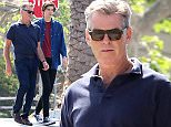 Please contact X17 before any use of these exclusive photos - x17@x17agency.com   PREMIUM EXCLUSIVE - Pierce Brosnan was spotted while out in Malibu with son Dylan.  The star wore a navy polo with dark jeans and shades.  Set to star in four films in 2015, his son Sean will play a younger version of Pierce in Last Man Out. Friday, March 20, 2015 X17online.com
