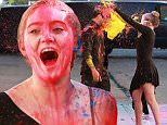 Willow Shields and Mark Ballas have a paint balloon fight for 'Dancing with the Stars', outside the 'DWTS' rehearsal space in Hollywood, CA on March 20, 2015.\n\nPictured: Willow Shields\nRef: SPL980641  200315  \nPicture by: Splash News\n\nSplash News and Pictures\nLos Angeles: 310-821-2666\nNew York: 212-619-2666\nLondon: 870-934-2666\nphotodesk@splashnews.com\n