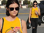 Lucy Hale wears yellow and black for a trip to Urban Outfitters on Friday afternoon\nFeaturing: Lucy Hale\nWhere: Los Angeles, California, United States\nWhen: 21 Mar 2015\nCredit: WENN.com